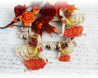 Fall Fairy Die Cut Embellishments for Scrapbooking, Cardmaking, Mixed Media, Altered Art