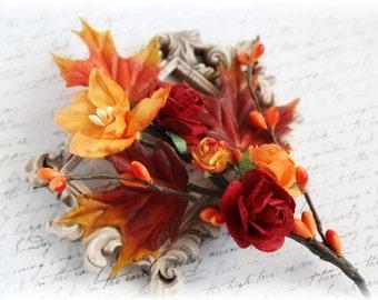 Maple Leaf Autumn Vine Embellishments for Scrapbooking, Cardmaking, Mini Album, Altered Art,