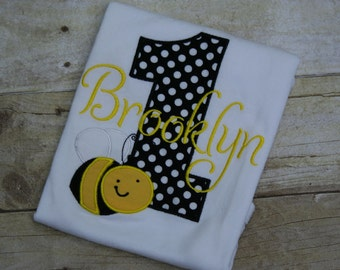 Bee Birthday, Bee Birthday Shirt, Bee Personalized, Bumblebee Shirt, Bumblebee Birthday, Bee Girl Birthday, Bee Party, Bee Birthday Party