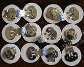 The VERY BEST Blank Shoes Shoe Schuh Clip Clips Hardware Finding w/ White leatherette (6 pair or 12 pieces) ~ Lead Free ~fast ship from USA