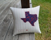 """CUSTOM """"Home State"""" Pillow Cover - for MISSMALLORYB"""