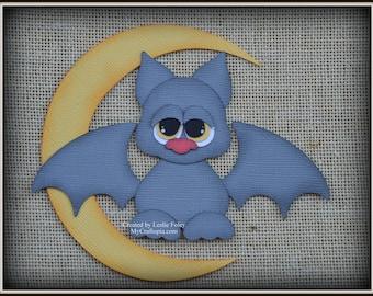 Bat Moon Halloween Premade Scrapbooking Embellishment Paper Piecing set