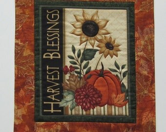 Harvest Blessings Fall Autumn Wall Hanging or Table Topper