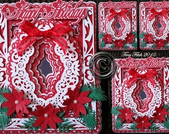 Happy Holidays Card Cutting File. All formats offered