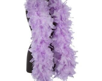 Lilac - Violet 150 Gram Turkey Feather Boas - Turkey Ruff -  Halloween Costume