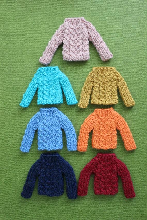 CHOOSE COLOUR - woollen jumper/sweater for Fairyland Littlefee / Yo Sd / Soom tiny / Pullip doll