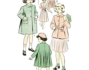 1940s / 50s Girls Swing Coat Jacket Pattern Advance 5264 B23 Size 4