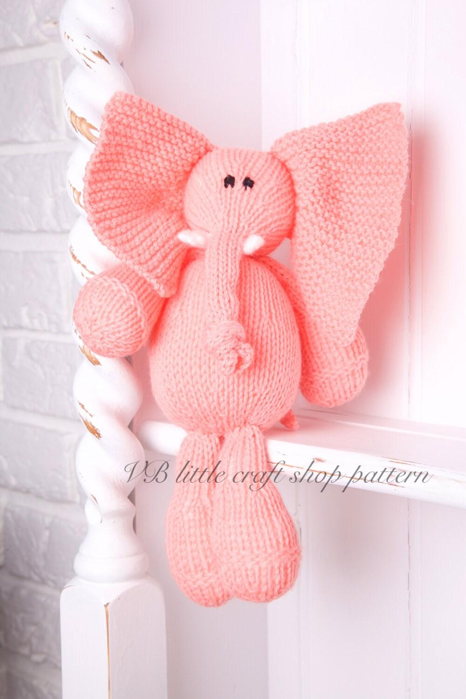 Soft Toy Patterns : Elephant soft toy knitting pattern one ball knit instant pdf