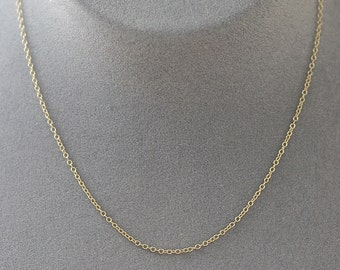 """20"""" Gold Chain - Simple Gold Chain - 14k Gold Filled Chain - Chain with Clasp - Gold Chain - Chain for Pendant - Extra Chain - Gift"""