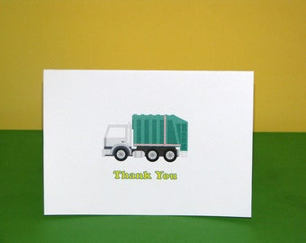 Garbage Truck Thank You Cards Recycling Party Garbage Truck Birthday Party PRINTED
