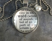 One Word dictionary necklace 2017 word of the year