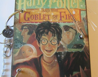 Harry Potter  and the Goblet of Fire JOURNAL Unique Travel Log Daily Diary OOAK Upcycled