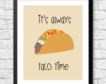 It's Always Taco Time Print 8x10