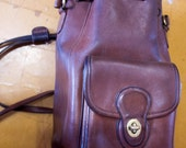 Authentic Coach Leather Bucket backpack