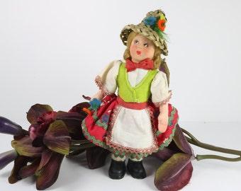 Vintage Felt Doll Italian