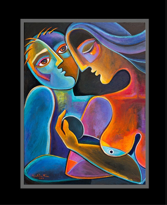 Cubiste peinture abstraite moderne Art Original par ...