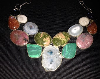 Amazing Multi-stone statement necklace