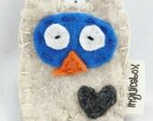 Eco fi felt Owl Keychain, keychain, owl