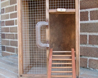 Handmade Pigeon Carrier - Transporter Cage - Vintage - Carrier Pigeon - Homing Pigeon - Pigeon Racing - Rustic - Shabby Decor - Lamp Stand
