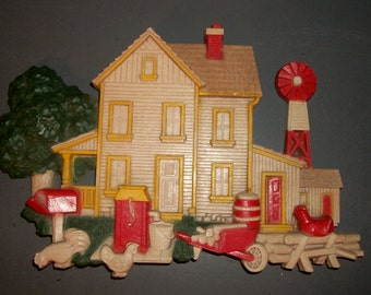 Homco Farmhouse Wall Hanging