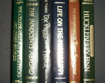 Mark Twain Hardcover Collection Reader's Digest Best Reading Leather Spines