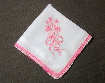 Beautiful vintage Floral Cotton Handkerchief