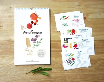 SALE! 2016 Hors d'oeuvres Calendar with Set of Recipes!