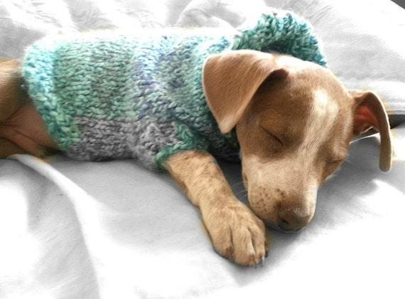 Dog Sweater Knitting Pattern Circular Needle : Dog or Cat Sweater Coat Jacket Instant DL Pattern