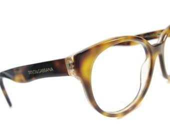 Vintage Tortoise Horned Rim Cateye Eyeglasses Frames Dolce&Gabbana