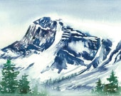Banff Mountain Original Painting - Mountain Landscape