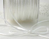"White Satin Cord 1/8"" wide by the yard Necklace Cord, Weddings, Crafts, Gift Wrap, Trim, Sewing, Jewelry Supplies"