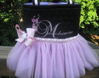 Monogrammed Pink Tutu Bag