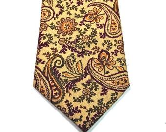 Paisley Neckties Mens Neckties Purple and Tan Neckties Mens Neckties Custom Neckties Cotton Neckties
