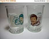 FALL Sale Bama Jelly Jar Glasses Champion Driver Series Set of Two Vintage Collectible Race Car Drivers