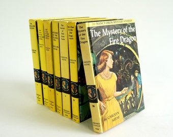Nancy Drew Mystery Books 60s Hc Set of 7 / The Original Girl Hero, Girl Detective, Girl Rebel / Vintage Childrens Books