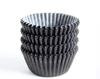 MINI Black Cupcake Liners (60)