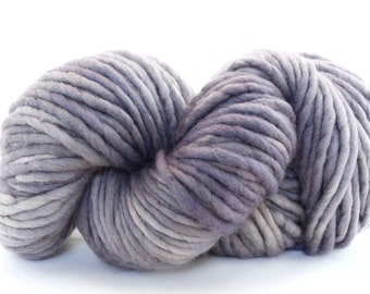 Hand Dyed Single Ply Wool - Super Bulky - Storm