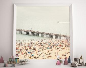 "Beach Photography // Brooklyn Summer // Coney Island Pier // Beach People Modern Home Art - ""The Summers we leave behind - Pier"""