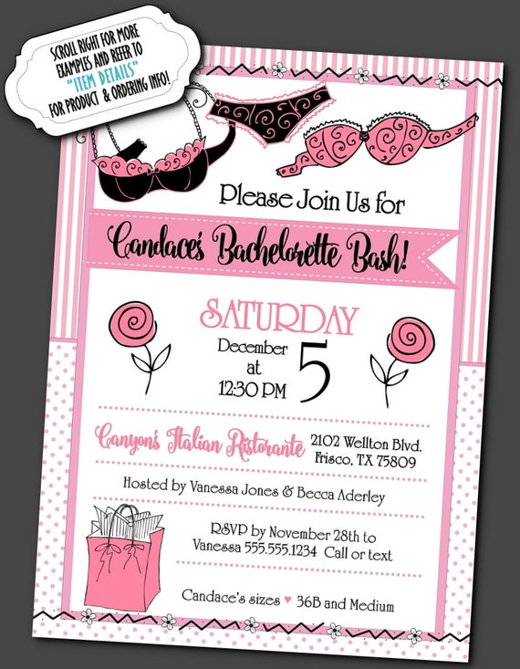 Party Invitations Invite with Envelope Bridal Shower – Bridal Shower and Bachelorette Party Invitations