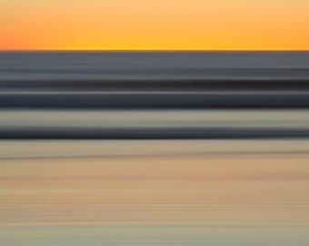 Long-exposure Photography, Large Print, Seascape Photography, Beach Art, Fine Art Print, Limited edition art, Sunset, Santa Monica, Dusk