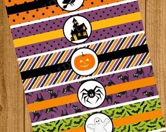 Halloween water,Halloween label,Halloween Party,Halloween Decor,Halloween Birthday,Water Bottle Label, Halloween Drinks, Instant Download
