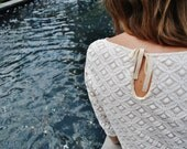 SALE size Small .Julia blouse-Ivory lace/ Ecru top/The off white shirt/ Off white top/ Off white blouse/ by marinaasta
