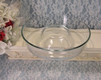 Corning Pyrex Glass Bundt or Ring Mold Pan, Vintage 1970s Mid Century Kitchen, Glass Cookware Bakeware, Kitchen Glass, Retro, Made in France
