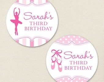 Ballet Party - Custom Stickers - Sheet of 12 or 24