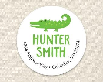Alligator Address Labels - Sheet of 24