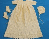 Feathered Lace Christening Gown PDF Pattern