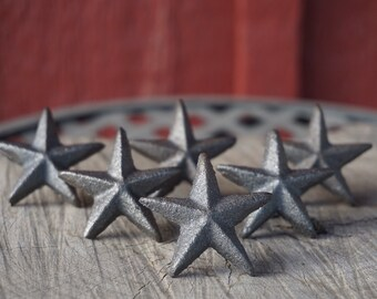 Cast Iron Star Nails 2 inch Lot set of 6