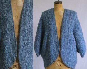 Vintage Crochet Shrug Purple Shrug Sweater Shrug 1970s Shrug Knit Shrug Womens Sweater Shrug One Size Fits All Small Medium Large