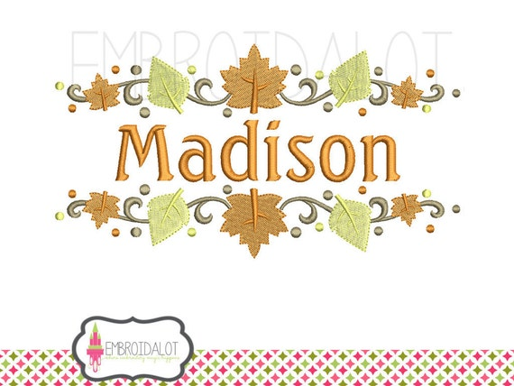 Fall border embroidery design thanksgiving by