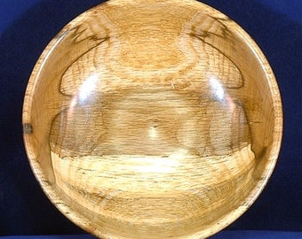 Hand Turned Wooden Bowl - Spalted Oak